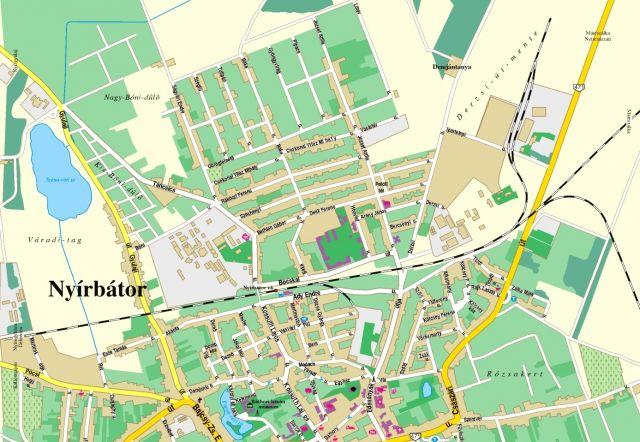 nyírbátor térkép Nyírbátor | Kincskeresés | Játék | GPSGames nyírbátor térkép