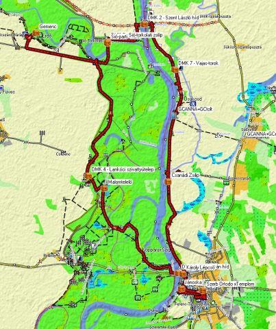 gemenc kerékpárút térkép Megtalálások | Csanádi Zsilip | Kincskeresés | Játék | GPSGames