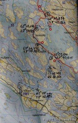 Pontok a térképen